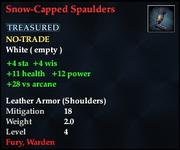 Snow-Capped Spaulders