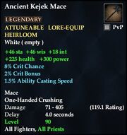 Ancient Kejek Mace