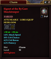 Signet of the Ry'Gorr Shocktrooper