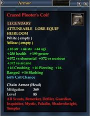 Crazed Plooter's Coif