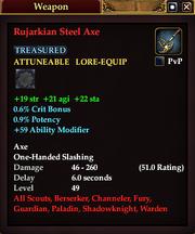 Rujarkian Steel Axe