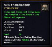 Rustic brigandine helm