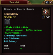 Bracelet of Golem Shards
