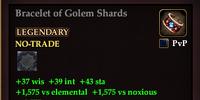 Bracelet of Golem Shards