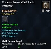Magus's Ensorcelled Satin Leggings