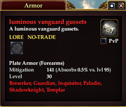 Luminous vanguard gussets