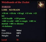 Wristbands of the Zealot