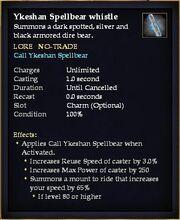 Ykeshan Spellbear whistle