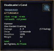Headmaster's Gavel