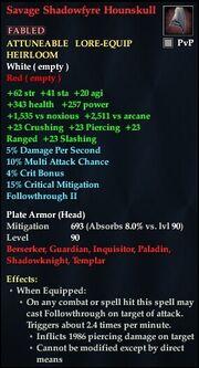 Savage Shadowfyre Hounskull