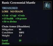 Runic Ceremonial Mantle