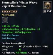Stormcaller's Winter Weave Cap of Restoration