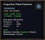 Freeportian Plated Pauldrons