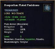 Freeportian Plated Pauldrons