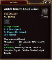 Wicked Raider's Chain Gloves