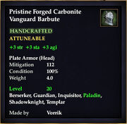 Carbonite Vanguard Barbute