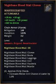 Nightbane Blood Mail Gloves