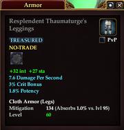 Resplendent Thaumaturge's Leggings