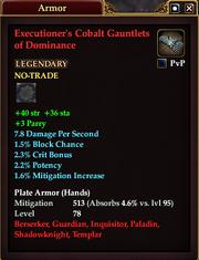Executioner's Cobalt Gauntlets of Dominance