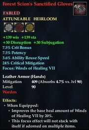 Forest Scion's Sanctified Gloves