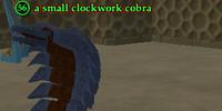 A small clockwork cobra