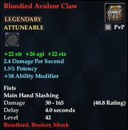 Bloodied Avulsor Claw