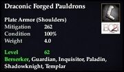 Draconic Forged Pauldrons