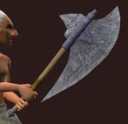 Dragon Bone Axe (Equipped)