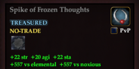 Spike of Frozen Thoughts