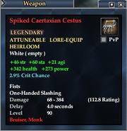 Spiked Caertaxian Cestus