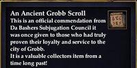 Ancient Grobb Scroll