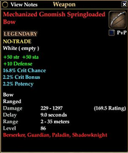 Mechanized Gnomish Springloaded Bow