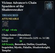 Vicious Advancer's Chain Spaulders of the Shadowsneaker