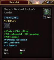 Growth Touched Evoker's Armlet