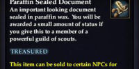 Paraffin Sealed Document