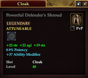 Powerful Defender's Shroud