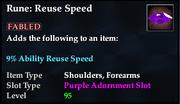 Rune- Reuse Speed