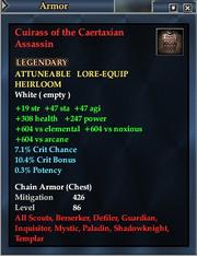Cuirass of the Caertaxian Assassin