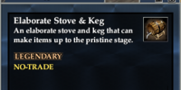 Elaborate Stove & Keg