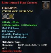 Rime-Infused Plate Greaves