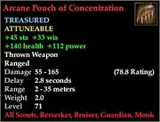 Arcane Pouch of Concentration