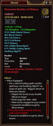 Dracurion Buckler of Defense