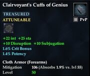 Clairvoyant's Cuffs of Genius
