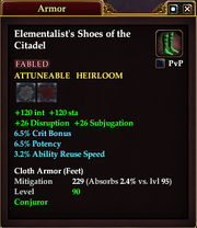 Elementalist's Shoes of the Citadel