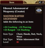 Ethereal Adornment of Weaponry (Greater)