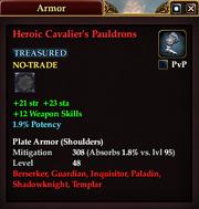 Heroic Cavalier's Pauldrons