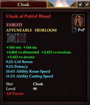 Cloak of Putrid Blood