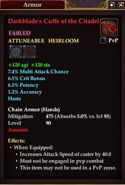 Darkblade's Cuffs of the Citadel