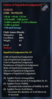 Gloves of Sepulchral Judgement