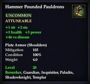 Hammer Pounded Pauldrons